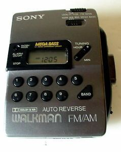 Vtg Sony Walkman Auto Reverse Cassette Player Am FM Stereo Radio Wm FX43 Digital