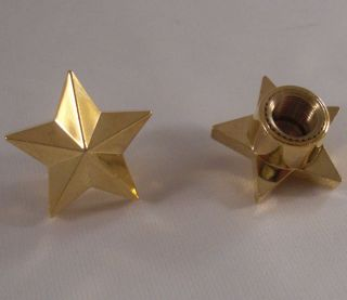 "2 Gold ""Rock Star"" Custom Valve Stem Caps Motorcycle Car Wheel Air Tire Rims"