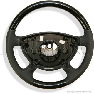 Mercedes Benz E Class W211 W463 Birdseye Maple Wood Leather Steering Wheel New
