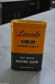 Lincoln Mercury Car Care Chemicals Wax Treated Dusting Cloth Mint