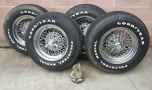 Chevy Corvette Tru Spoke Wire Wheels