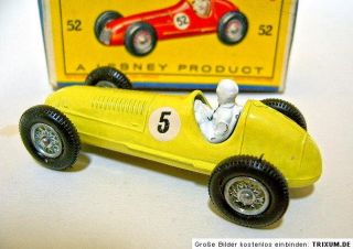 "Matchbox RW No 52A Maserati Racer Yellow Body RN ""5"""