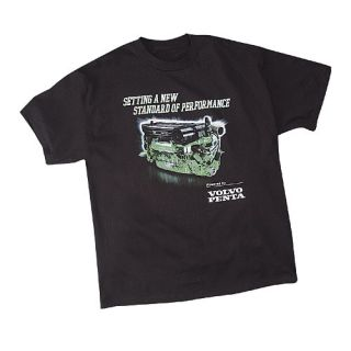 Powered by Volvo Penta Black T Shirt Large