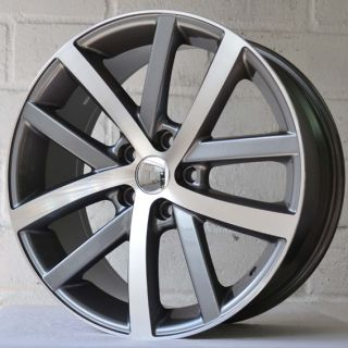 "18"" VW Golf MK6 GTI 2009 2010 Twin Spoke Gun Pol Wheels Tyres 5x112"