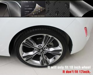 Technica 2012 Hyundai Veloster Carbon Wheel Mask Decals Stickers 1set