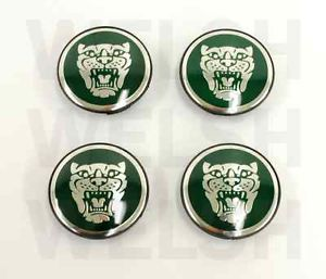 Jaguar Wheel Badge Set Center Cap Wheel Motif 1988 2012 Green