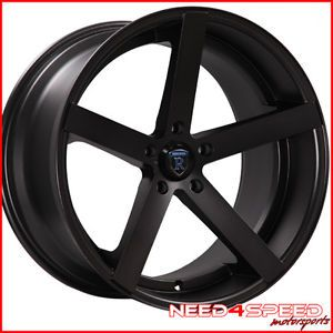 "20"" Infiniti G35 Sedan Rohana RC22 Concave Black Staggered Wheels Rims"