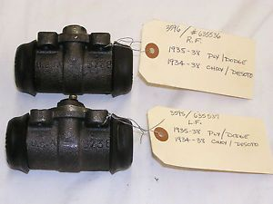 1935 1936 1937 1938 Plymouth Dodge DeSoto Chrysler Front Wheel Cylinders