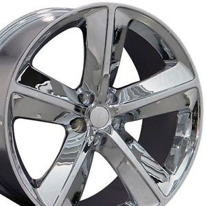 "Set 4 20"" Chrome Dodge Challenger SRT Replica Wheels Rims 20x9 Chrysler"