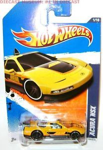 Acura NSX Yellow Hot Wheels Diecast 1 64 2011