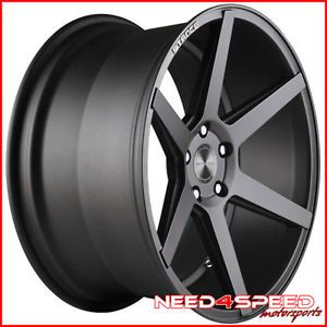 "20"" Nissan 350Z Stance SC 6IX SC6 Grey Concave Staggered Wheels Rims"