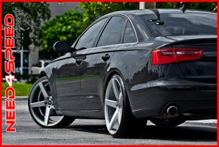 "22"" XO Miami Brushed Silver Concave Wheels 5 Spoke 20x8 5 Rims Fits Audi A8"