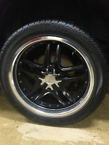"Custom Built Vogue Tires 305 40R22 Black Forte Rims 22"" 2007 Cadillac Escalade"