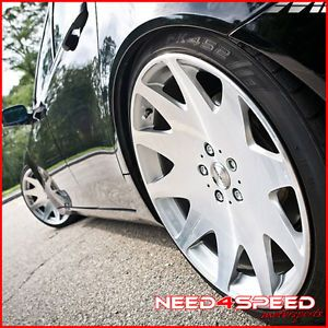 "20"" Nissan Maxima MRR HR3 Silver VIP Concave Staggered Rims Wheels"