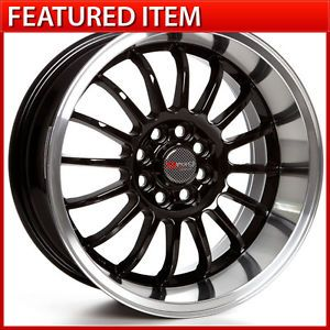 Drag Dr 41 15 15x7 4 100 10 Gloss Black Wheels Rims Honda Civic Acura Integra