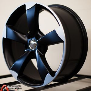 18 Audi RS3 Style Black Wheel Fit Audi TT A4 A5 A6 A7 A8 S4 S5 Q5 2 0 3 0 5x112