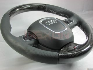 Audi RS5 Carbon Steering Wheel Fits A3 A4 A5 A6 TT Q5 Q7 S4 S5