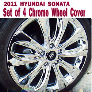 2011 2012 Hyundai Sonata Chrome Wheel Cover Set of 4pcs Hub Caps Covers