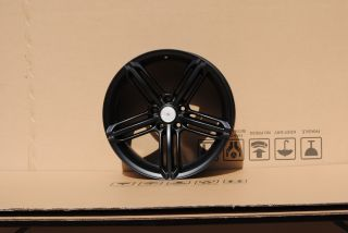 "17"" Audi New RS6 Alloy Matt Black Wheels Fits VW Golf MK6"