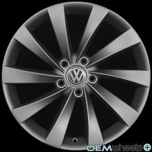"18"" Gunmetal Turbine Wheels Fits VW Golf Jetta CC EOS GTI Passat Audi A3 A6 Rims"