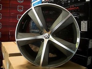 "Dodge Charger Magnum Challenger 22"" Comp Gray Wheels Chrysler 300 C 300C Rims"