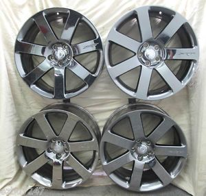 "20"" Chrysler 300 SRT Factory Black Vapor Chrome Set of Four Wheels Rims 2438"