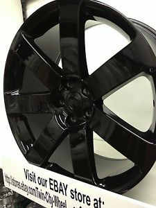 20 inch Gloss Black 2013 Chrysler 300C SRT8 Factory OE Replica Wheels Rims 5x115