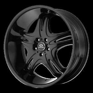 "20"" x 10"" Lorenzo WL31 Challenger Charger Magnum 300C Dodge Black Wheels Rims"