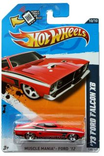 2012 Hot Wheels Muscle Mania Ford 120 1973 Ford Falcon XB Red