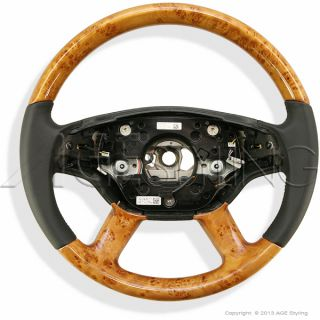 Mercedes s Class W221 S65 AMG CL Class W216 CL65 Wood Leather Steering Wheel New