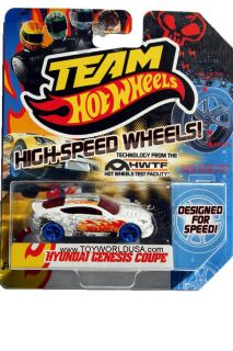 2012 Team Hot Wheels High Speed Wheel Hyundai Genesis Coupe with Blue Wheels