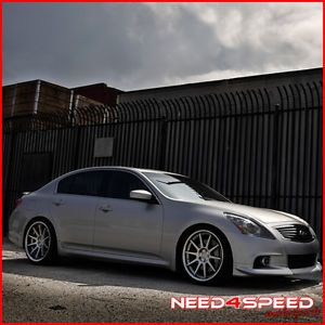 "20"" Nissan 370Z Concept One CS10 Deep Concave Silver Staggered Wheels Rims"