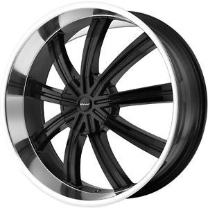 "26"" Black KMC Widow Wheels Rims Chevy Tahoe Silverado Yukon Ford F150 Expedition"