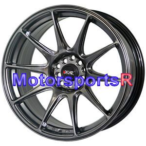 18 XXR 527 Chromium Black Concave Rims Staggered Wheels Stance 03 08 Nissan 350Z