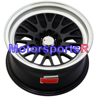15 7 XXR 513 Chromium Black Rims Wheels Deep Dish Step Lip 4x100 03 06 Scion XB