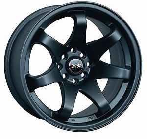 15 XXR 522 Black Rims Wheels 15x7 25 4x100 BMW 2002 Scion XB Miata Yaris Civic