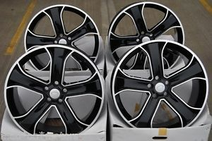 "22"" Black 5 Spoke Alloy Wheels Fit Volkswagen Amarok Models"