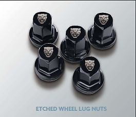 New Jaguar Black Etched Wheel Lug Nuts 20pc Set