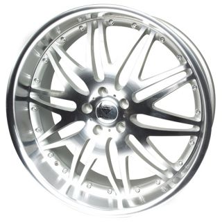 "20"" Diamond Raptor 4 Silver Polished Alloy Wheels for Jaguar XK 9 5J 5 120 ET30"