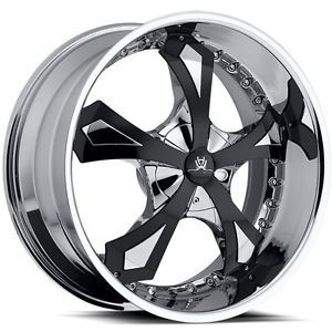 "20"" Chrome Hipnotic Joker Wheels Cadillac cts F150 Infiniti FX Maxima 45"