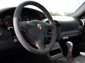 Porsche 996 986 GT3 Type Alcantara Package Steering Wheel Ebrake Shift Knob Red