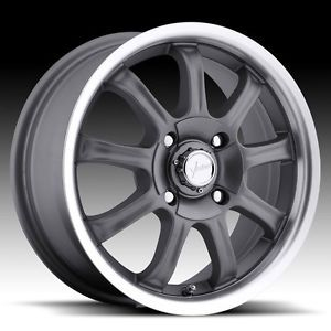 "16"" inch 4x100 4x4 5 Gunmetal Machined Wheels Rims 4 Lug Mazda Honda Nissan"
