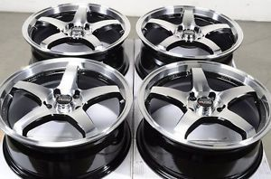 17 5x114 3 Black Rims Altima Accord Avalon Camry Sebring Mazda 3 6 5 Lug Wheels
