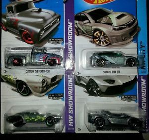 2014 Hot Wheels Treasure Hunt Subaru WRX STI and Latest Zamacs x 4