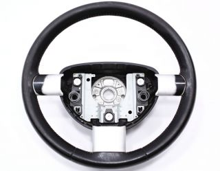 Black Leather Steering Wheel 98 10 VW Beetle 3 Spoke Genuine OE Volkswagen