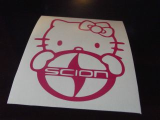 Hello Kitty Scion Logo Car Window Decal Sticker Pink