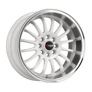 15 Drag DR41 White Rims Wheels 15x7 10 4x100 Mazda Miata Scion XB BMW E30