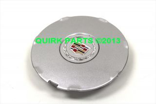2008 2009 Cadillac cts Silver Painted Crest Wreath Wheel Center Cap New