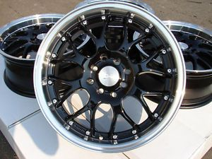 "16"" Effect Wheels Black Rims 4x100 4x114 3 Lancer Scion XA XB MR2 Yaris Integra"