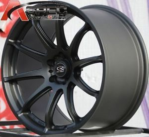 18x9 5 Rota T2R Wheels 5x100mm Flat Black Rims ET38MM Fits Subaru WRX 5x100